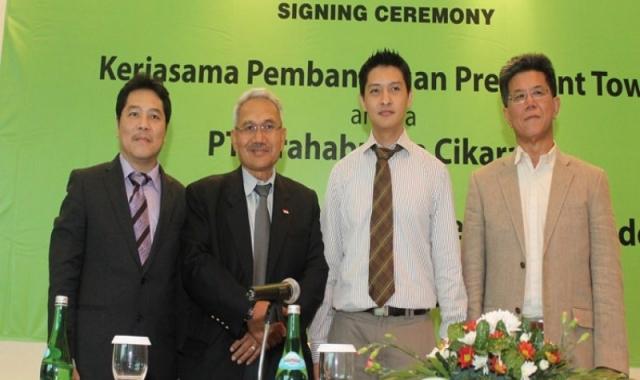 Penandatanganan Nota Kesepahaman Penjualan President Tower At Jababeka Residence