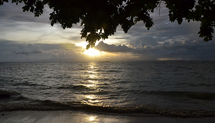 Evening view at Morotai